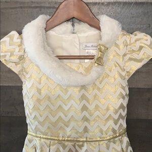 Jona Michelle Dresses - Beautiful White and Gold Jona Michelle Dress